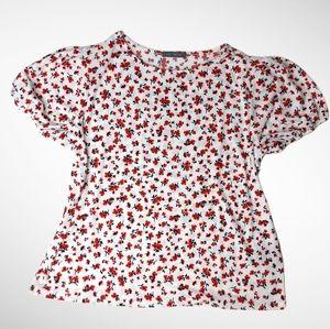 🌼3/$30 Suzy Shier Short Sleeve Poppy Blouse Large